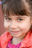Little girl portrait summer outdoors Royalty Free Stock Photo