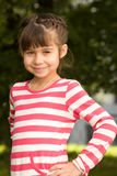 Little girl portrait summer outdoors Royalty Free Stock Image