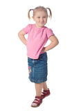 Little girl pose royalty free stock photography