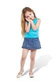 Little girl poses for camera Stock Photos