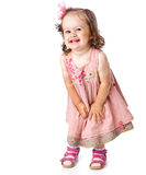 A little girl is posing Royalty Free Stock Image