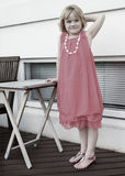 Little Girl Posing. Little girl all dressed up and posing Stock Photography