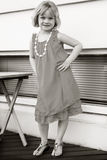 Little Girl Posing. Little girl all dressed up and posing Stock Images