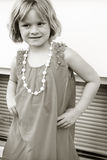 Little Girl Posing. Little girl all dressed up and posing Royalty Free Stock Images