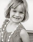 Little Girl Posing. Little girl all dressed up and posing Stock Photo