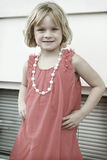 Little Girl Posing. Little girl all dressed up and posing Stock Photos