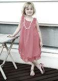 Little Girl Posing. Little girl all dressed up and posing Royalty Free Stock Photos