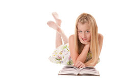 Little girl posing with book Stock Image