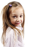 Little girl posing for camera Royalty Free Stock Image