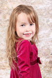 Little girl posing with Christmas Royalty Free Stock Image