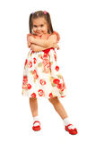 Little girl posing in dress with flowers Royalty Free Stock Photo