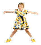 Little girl posing like star Stock Image