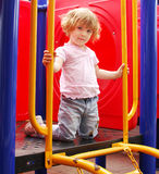 Little girl posing on playground Royalty Free Stock Photo