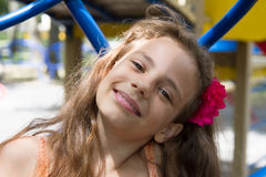 Little girl posing on the playground Royalty Free Stock Photography