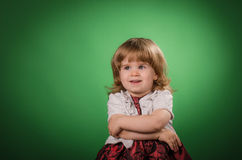 Little girl posing Stock Images