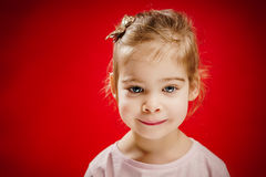 Little girl posing with a smile Royalty Free Stock Photography