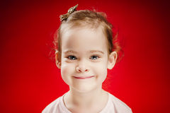 Little girl posing with a smile Stock Photos