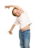 Little girl posing on white Royalty Free Stock Photos