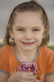 Little Girl With Posy Royalty Free Stock Photos