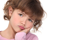 Little girl pouting Stock Photography