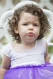Little girl is pouting Royalty Free Stock Image