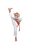 Little girl practice karate Royalty Free Stock Image