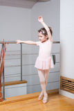 Little girl practicing ballet Royalty Free Stock Photography