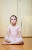 Little girl practicing ballet Stock Photo