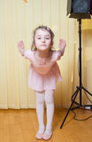 Little girl practicing ballet Stock Photography