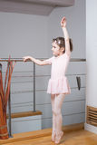 Little girl practicing ballet Royalty Free Stock Image
