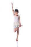 Little girl practicing yoga Royalty Free Stock Photography