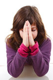 Little girl praying Royalty Free Stock Images