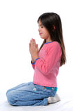 Little Girl Praying Royalty Free Stock Photo