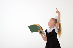 Little girl preparing for school Royalty Free Stock Images