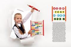 Little girl preparing to go back to school Stock Photo
