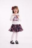 Little girl preschooler model Royalty Free Stock Photos