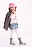 Little girl preschooler model Stock Photography