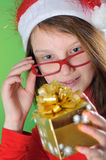 Little girl with present Stock Photo