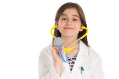 Little girl pretending to be a doctor Royalty Free Stock Image