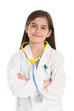 Little girl pretending to be a doctor Royalty Free Stock Photography