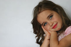 Little girl with a pretty face Royalty Free Stock Photo