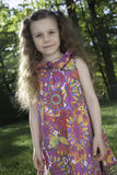 Little Girl in Pretty Spring Dress Royalty Free Stock Photos