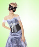 Little girl Princess carnival mask. Royalty Free Stock Photography