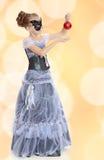Little girl Princess carnival mask. Royalty Free Stock Photos