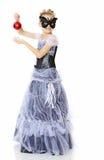 Little girl Princess carnival mask. Stock Image