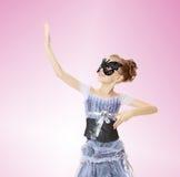Little girl Princess carnival mask. Royalty Free Stock Image
