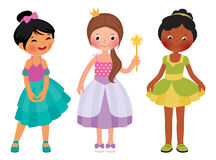 Little girl in princess costume Stock Photography