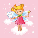 The little girl princess with a magic wand. Stock Photo