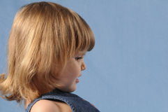 Little girl profile Stock Photo
