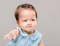 Little girl pulling hand up Stock Photos